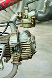 Motorcycle engine in the 1990 Stock Images