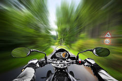 Motorcycle exessive speed Royalty Free Stock Images