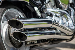 Motorcycle exhaust Royalty Free Stock Photo