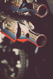 Motorcycle exhaust Stock Photography