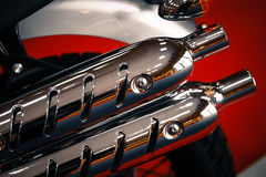 Motorcycle exhaust Royalty Free Stock Photos