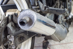 Motorcycle exhaust Royalty Free Stock Photography