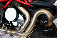 Motorcycle exhaust pipe Stock Photo