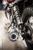Motorcycle exhaust pipe Royalty Free Stock Photos