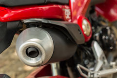 Motorcycle exhaust pipe Royalty Free Stock Photography