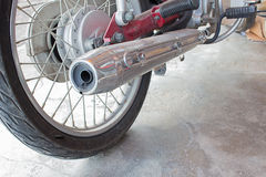 Motorcycle exhaust pipes Royalty Free Stock Photography