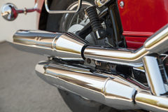 Motorcycle exhaust pipes Stock Images
