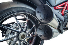 Motorcycle exhaust pipes Royalty Free Stock Photo