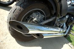 Motorcycle exhaust pipes Royalty Free Stock Photos