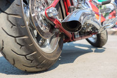 Motorcycle exhaust pipes Stock Photos