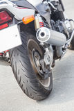 Motorcycle exhaust pipes Stock Image
