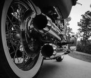 Motorcycle Exhaust Pipes Ready To Run Royalty Free Stock Image