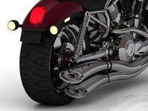 Motorcycle with exhaust view back Royalty Free Stock Photography