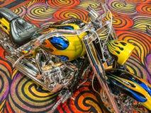 Motorcycle, extreme colors at Street Vibrations. Colorful motorcycle display at Street Vibrations, Reno, Nevada royalty free stock images