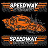 Motorcycle - extreme sport. Vector Emblem Royalty Free Stock Image