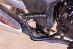 Motorcycle foot kick start Stock Photo