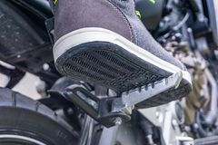 Motorcycle foot rest stock photos
