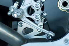 Motorcycle footpegs Stock Photo