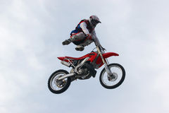 Motorcycle freestyle Royalty Free Stock Photography