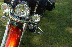 Motorcycle front. Headlights, forward view from front Royalty Free Stock Photos
