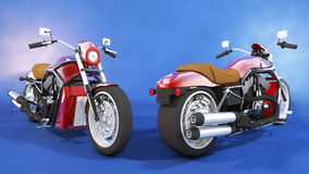 Motorcycle Front And Back Royalty Free Stock Photo