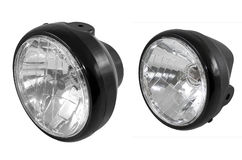 Motorcycle front lights isolated Stock Images