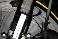 Motorcycle front suspension Royalty Free Stock Photography