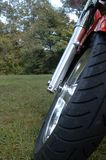 Motorcycle front tire Stock Photography