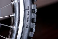 Motorcycle front tire Royalty Free Stock Photos