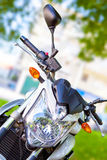 Motorcycle Yamaha XJ6. Front view of a modern motorcycle Stock Photo