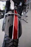 Motorcycle front view mudguard. Close up of motorcycle front view mudguard Stock Image