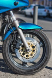 Motorcycle front wheel Royalty Free Stock Photo