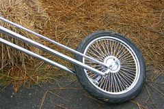 Motorcycle front wheel Royalty Free Stock Photography