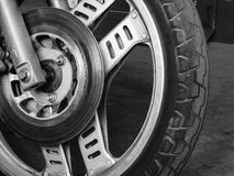 Motorcycle front wheel Royalty Free Stock Image