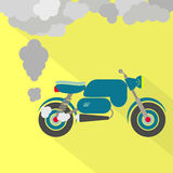 Motorcycle fuming vector illustration