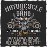 Motorcycle Gang Label Typeface Poster Royalty Free Stock Images