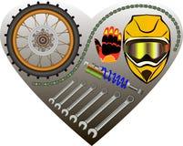 Motorcycle garage background Stock Images