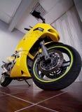 Motorcycle in garage Royalty Free Stock Image