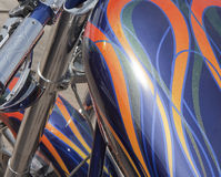 Motorcycle gas tank Stock Photo