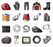 Motorcycle gear and accessories Stock Photography
