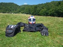 Motorcycle gear Stock Photo