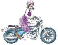 Free Motorcycle Girl Royalty Free Stock Photo - 28850665