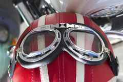 Motorcycle glasses Stock Photo