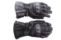 Motorcycle glove isolated. On white background Royalty Free Stock Photography