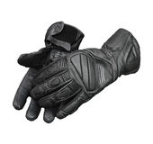 Motorcycle gloves isolated with clipping patch Royalty Free Stock Photos