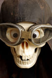 Motorcycle goggles and helmet the skull Royalty Free Stock Image