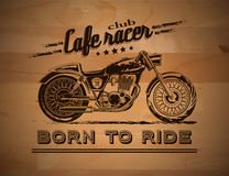 Motorcycle graphic banner Royalty Free Stock Photography