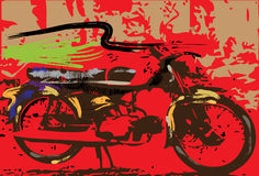 Motorcycle graphics Stock Photo
