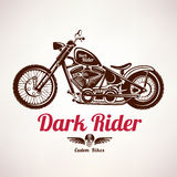 Motorcycle grunge vector silhouette Royalty Free Stock Photography