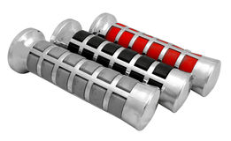 Motorcycle handle grip Royalty Free Stock Images